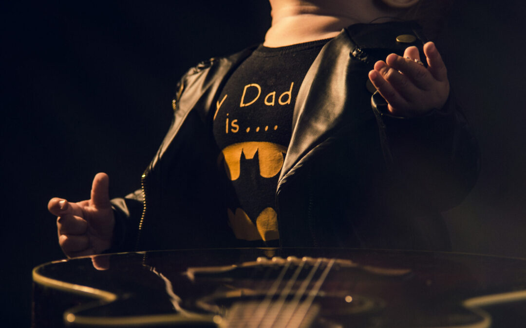 Mała gwiazda rocka – sesja dziecięca